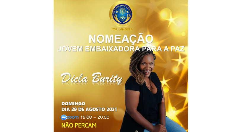 NOMEAÇÃO da Dicla Burity para Jovem Embaixadora para a Paz