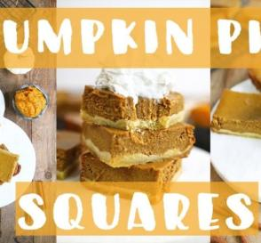 Healthy PUMPKIN PIE Squares EASY Thanksgiving Recipes