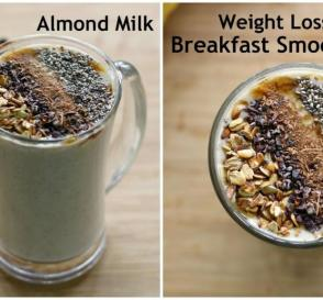 Almond Milk Banana Oatmeal Breakfast Smoothie Easy Vegan Breakfast Oats Recipes For Weight Loss