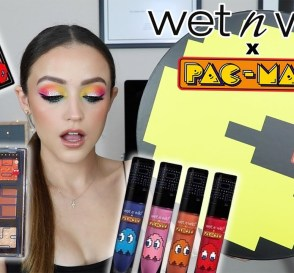 WET N WILD x PAC MAN Collection TRY ON REVIEW