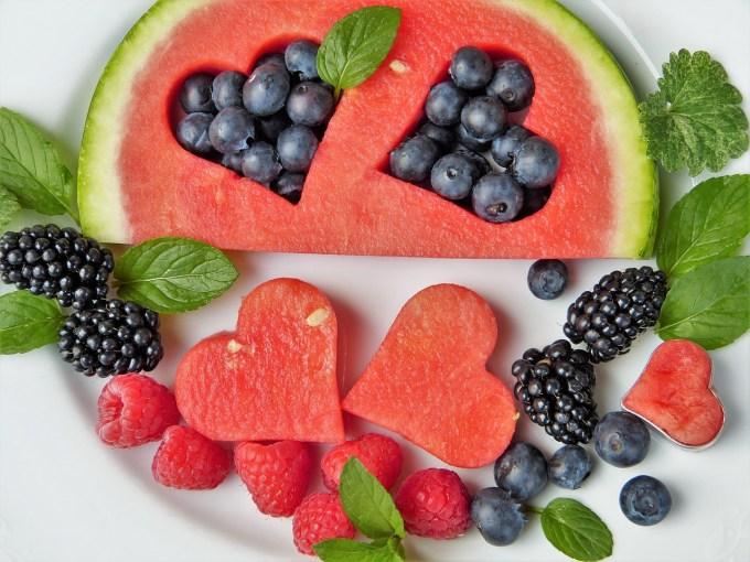raspberries reduce risks of heart disease! decorate your summer table with some beautiful berries mixed together or shaped as a heart!