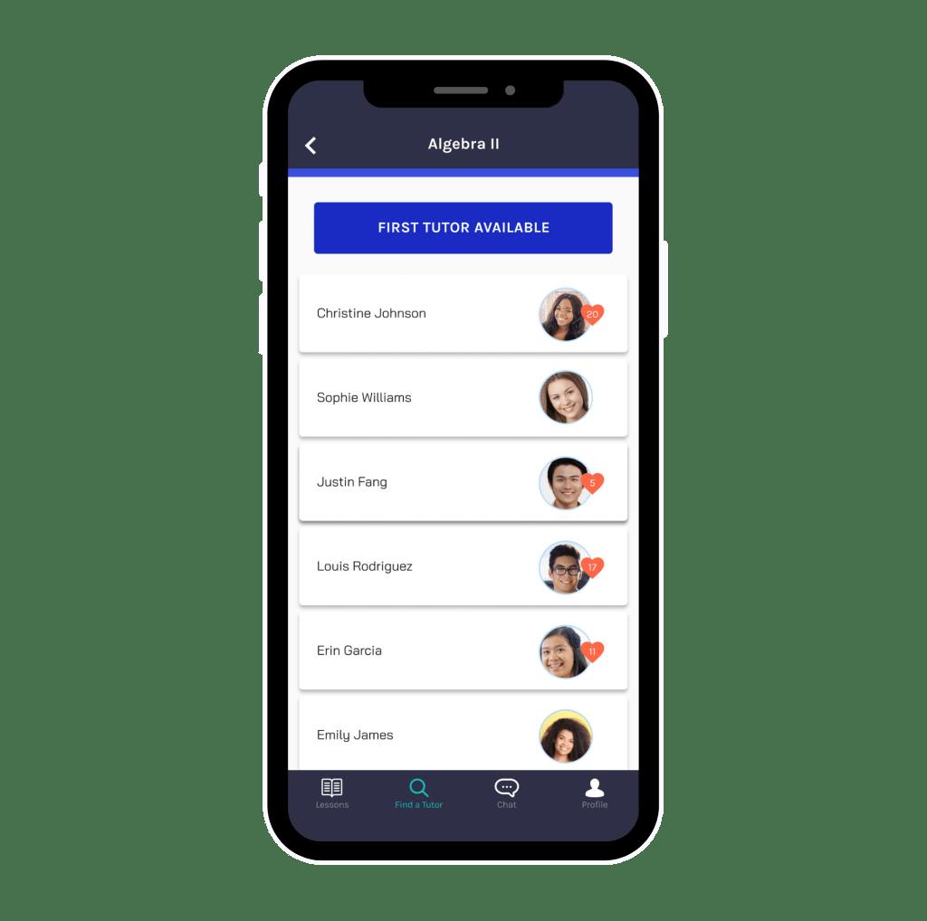 Find A Tutor App Screenshot