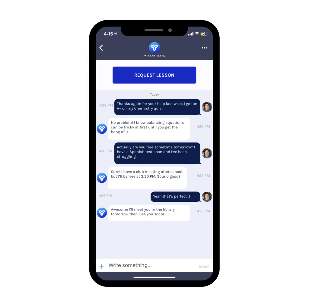 Message Tutor App Screenshot