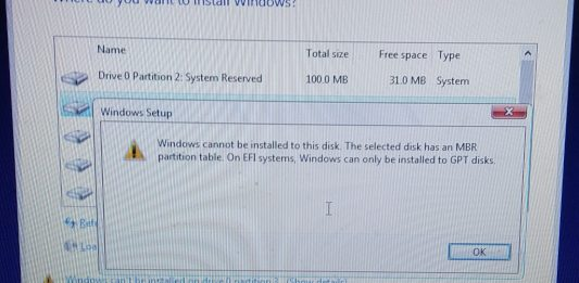 Windows cannot be Installed to this disk solution
