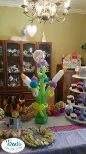 Baby Shower Balloon Bottle and Rattle centerpiece