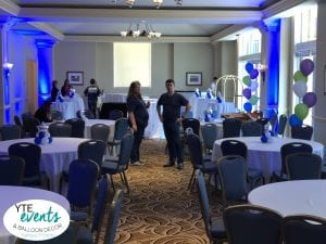 Double Checking the room after balloon decor job