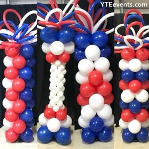 Patriotic balloon column ideas YTE