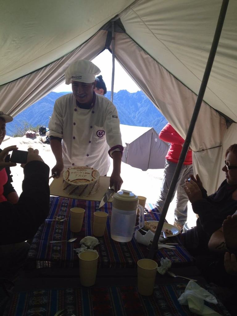 lunch on the Inca Trail