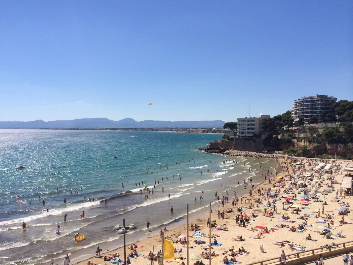 Typical Spanish beach