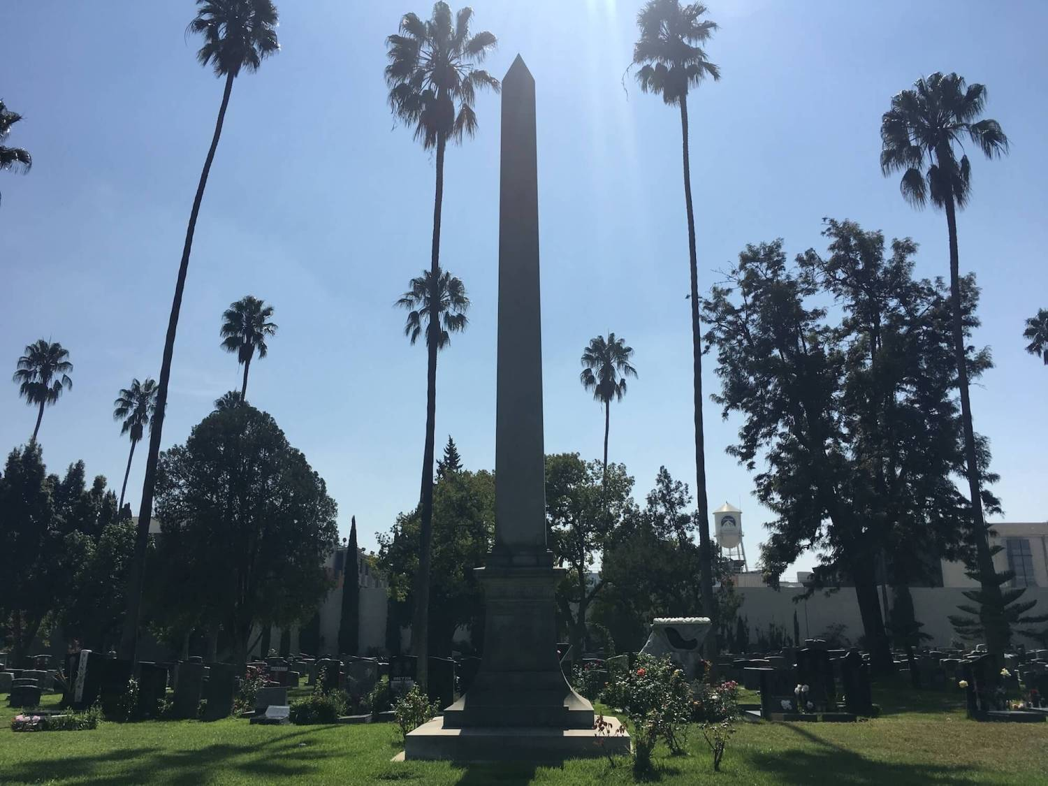 paramount studios water tower, hollywood forever cemetery