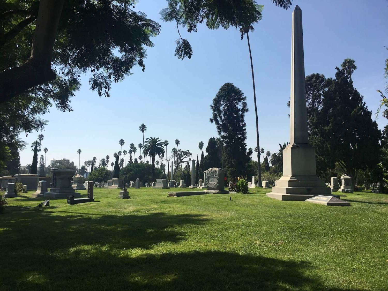 Griffith j griffith grave, hollywood forever cemetery