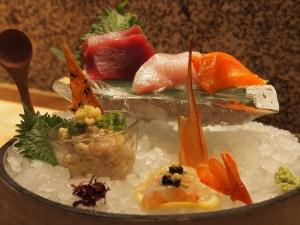 sashimi selection at Roka Charlotte Street