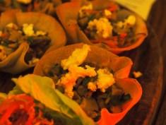 feta kimchee shiitake oyster mushroom briq tart | Laksa Riesling Supper | Yvanne Teo