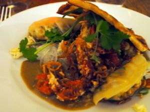 laksa, crab, gyoza, coconut & mustard seed flat bread 2   Yvanne Teo