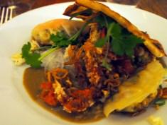 laksa, crab, gyoza, coconut & mustard seed flat bread 2 | Yvanne Teo