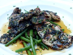 chargrilled veal sweetbreads served with green beans sautéed with ham | Olivocarne | Yvanne Teo