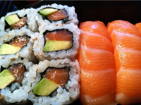 Salmon maki & nigiri   Kami Japanese Restaurant  Yvanne Teo