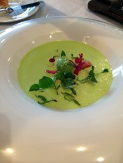 chilled pea soup at Pollen Street Social | ytTastes | Yvanne Teo