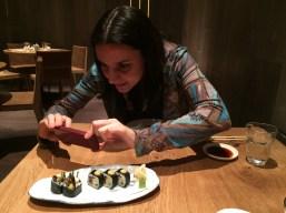 mushroom & tofu maki - Roka Aldwych   ytTastes   Yvanne Teo