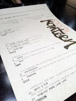 shochu kanteen menu | ytTastes | Yvanne Teo