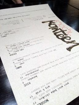 shochu kanteen menu   ytTastes   Yvanne Teo
