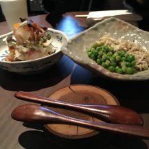 bream and scallop tataki dishes