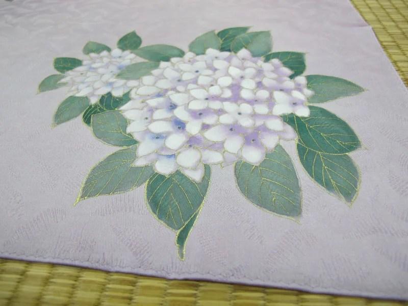 紫陽花の小風呂敷画像