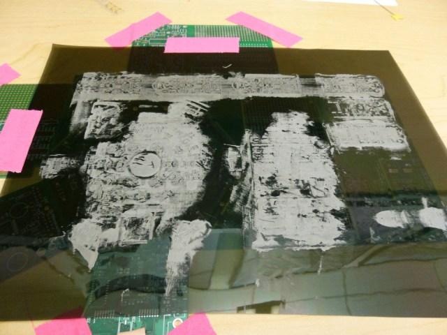 Apply solder paste on laser-cut stencil