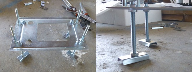 Mounting base assembly with anchor bolts