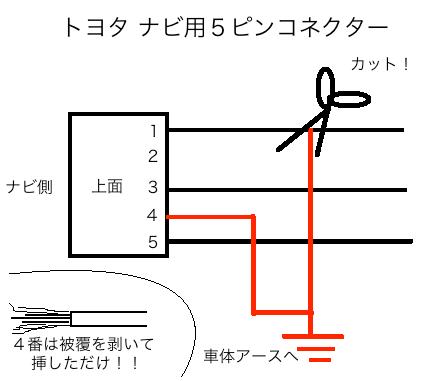 トヨタ ナビ 5ピン コネクタ カプラ