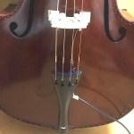 ウッドベースにコントラバス ソロ弦を張ってみました。