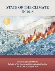 The State of the Climate in 2015 report will be published in the August 2016 issue of the Bulletin of the American Meteorological Society.
