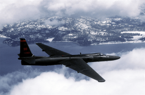 An Air Force U-2 Dragon Lady flies a training mission. (U.S. Air Force photo by Master Sgt. Rose Reynolds)
