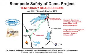 stampede-dam-road-closure