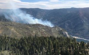 Aerial view of the Salt Fire in the Mokelumne Wilderness. ENF photo