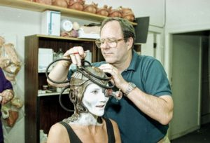 "Michael Westmore works on a Borg character for ""Star Trek: The Next Generation"" in the 1990s."