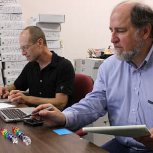 Philip Stark and Ron Rivest favor a risk-limiting election audit. (Photo by Cyrus Farivar)