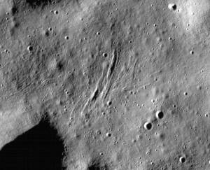 These graben - a kind of trench that is formed as a surface expands - were imaged near a region of the Moon called Mare Frigoris by NASA's Lunar Reconnaissance Orbiter (LRO).