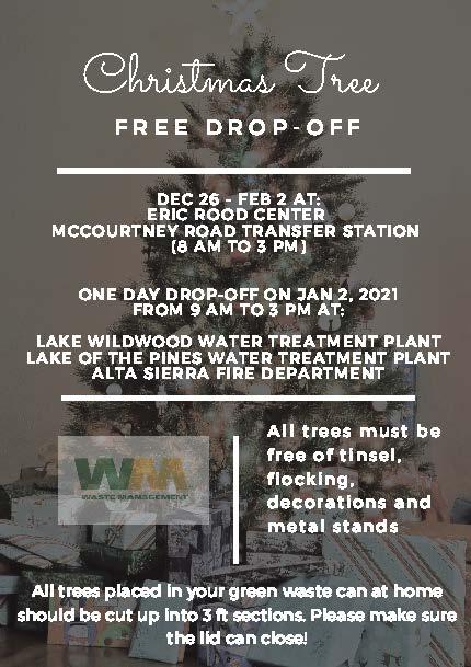 Lake Wildwood Christmas Lights 2021 Free Christmas Tree Drop Off Yubanet