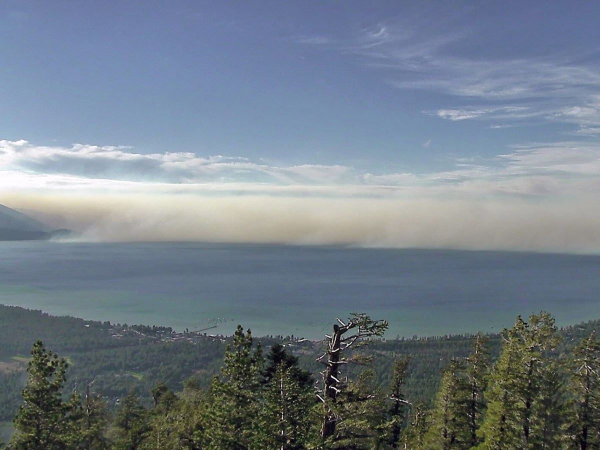 The 2014 King Fire burned for six weeks and came within 10 miles of Lake Tahoe. The plume of smoke produced as it burned 97,000 acres of National Forest and private lands traveled into nearby states.