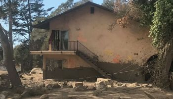 A house in Montecito, damaged in the Jan. 9 mudslide, sits abandoned.