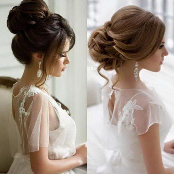 Прически на свадьбу на средние волосы 2019: фото пошагово