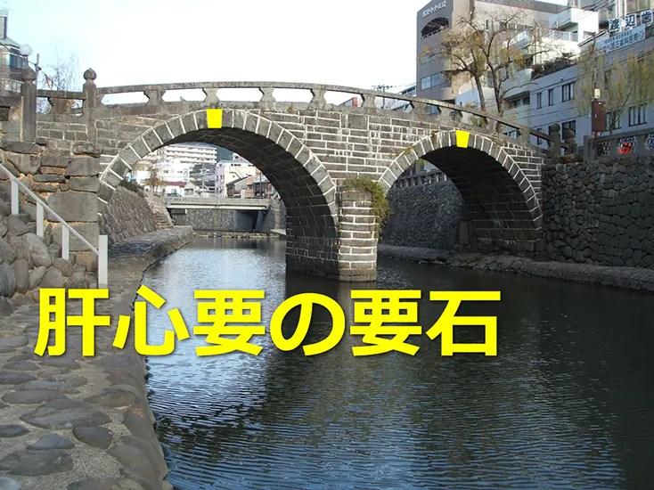 眼鏡橋のアーチ形状は要石で保たれている!