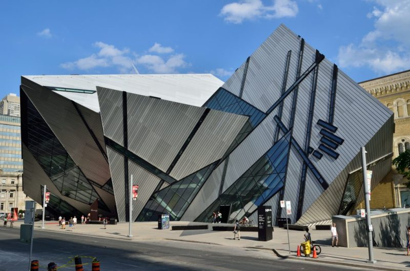 Image of the ROM building from outside by Michael Lee-Chin from Flickr.