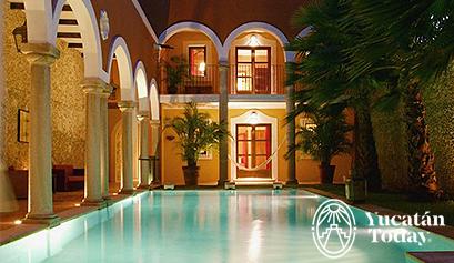 Hotel Hacienda Mérida piscina frontal