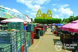 Oxkutzcab mercado e iglesia