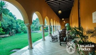 Hacienda Misne corredores jardines