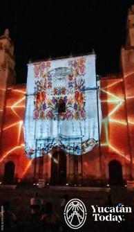 luz y sonido en Catedral Yucatán