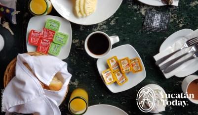 Mesa de desayuno en Mayaland