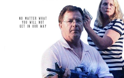 "Karen and Ken in movie poster for ""Heat"""